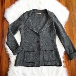 {Vintage} Italian Wool Structured Sweater